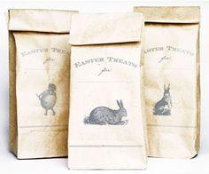 free vintage Easter printable for printing on a paper bag