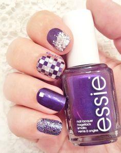 Purple Mozaïc -- Nails inc Westbourne Park -- Essie Sexy Divine -- China Glaze Marry a Millionaire n°80772 -- Nocibe Sparkling silver