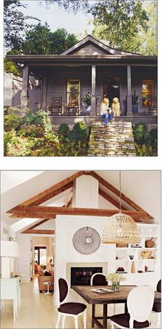 Back porch exposed beams home design inside