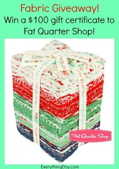 Fabric Giveaway - Fat Quarter Shop - EverythingEtsy.com #giveaway #fabric