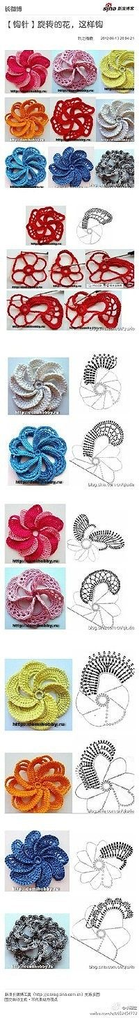 crochet flowers, flower art, crocheted flowers, crochet instructions, crochet flower patterns, flower tutorial, flower crochet, little flowers, flower chart
