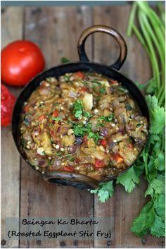 Baingan ka bharta/Roasted Eggplant Stir Fry