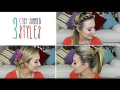How to do 3 easy summer hairstyles in less than 5 mins - Check out Baobella for more #hairstyle #inspiration #idea #bbloggers #beautybloggers #quick #easy #stepbystep #makeupartist #mua #beauty  #Hair #tutorial #DIY #howto #5minutes