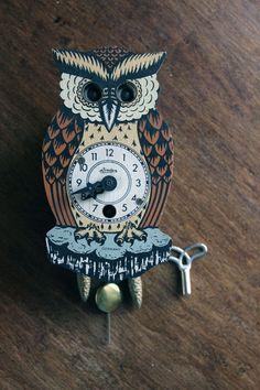 Vintage Owl clock #Vintage #Owl #clock #Germany