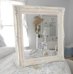 Frame shabby chic furniture home decor  for mirror or art. $135.00, via Etsy.