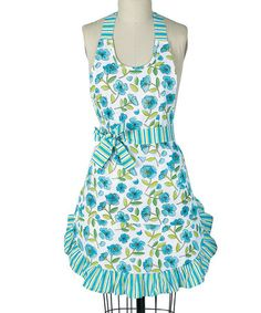 Take a look at this Blue Floral Girlie Apron - Women by Kay Dee Aprons on #zulily today!