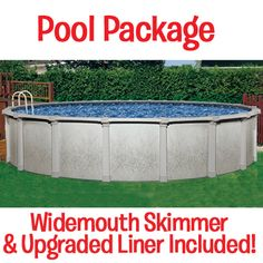 """Tahitian 54"""" deep Above Ground Pool comes with a pool liner in Pacific Diamond Design, free widemouth skimmer, & a 60-Year/Lifetime Warranty!"""