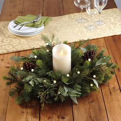 Beautiful mix of noble fir, cedar, and bay leaves will brighten up any table.