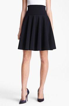 Oscar de la Renta Flared Knit Skirt