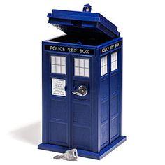 ThinkGeek :: Doctor Who TARDIS Mini Safe