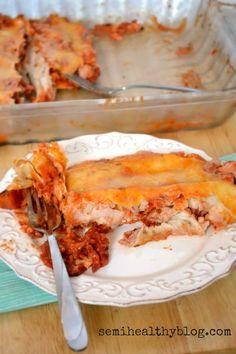 Turkey Enchiladas with Fire Roasted Tomatoes