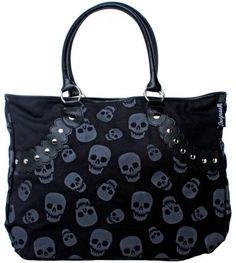 purs addict, skull stud, ink boutiqu, accessori, stud tote, handbag purs, bag handbag, tote bags, skull bag