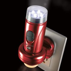 3-in-1 emergency flashlight, nightlight and power failure light is always charged and ready.