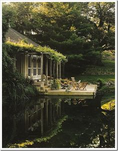 pond-side cottage. It's like a fairy tale.