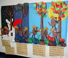 books, albun picasa, seasons, leo lionni, bulletin boards, trees, de picasa