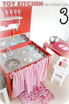 Ikea Hack toy kitchen from a changing table