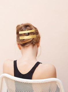 Hair jewelry by Sophie Buhai.