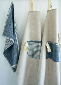 Molly's Sketchbook: Simple Linen Apron - The Purl Bee - Knitting Crochet Sewing Embroidery Crafts Patterns and Ideas!