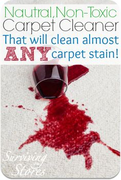 This homemade carpet cleaner will clean just about ANY spill!!