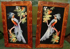2 Mexican Feather Art Folk Art Bird Pictures