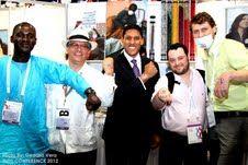 TB/HIV tattoos with Dr. Rajiv Shah, July 2012