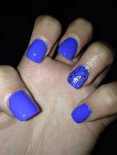 Royal blue nails #love