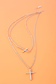 Double #Cross Necklace