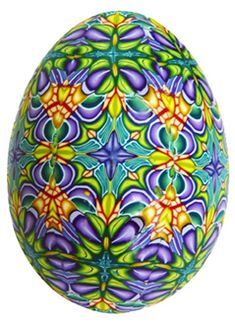 Poly clay egg by Carol Simmons WOW!