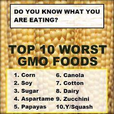 GMO Foods List: Top 10 Worst Foods