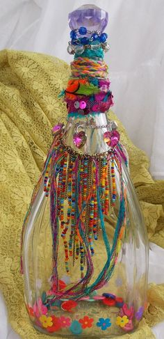 Bohemian Decor Bottle...this is so Molly