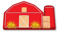 Barn cake for a farmer party! 9x13 sheet cake and a loaf pan - that I can do!!