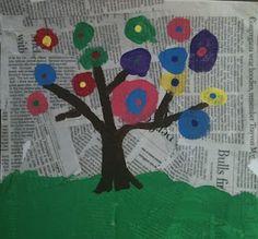 Earth/Arbor Day art spring-school-ideas