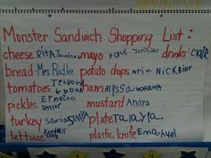 "Activities for ""A Monster Sandwich"""