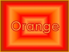 color, the word orange