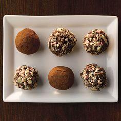 Ghirardelli Peppermint & Dark Chocolate Truffles | http://www.ghirardelli.com/recipes-tips/recipes/peppermint-and-dark-chocolate-truffles?utm_source=Pinterest&utm_medium=Social&utm_campaign=peppermintbark