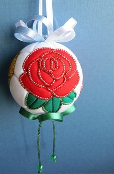 Roses Kimekomi Ornament  Made to Order by OrnamentDesigns on Etsy, $35.00