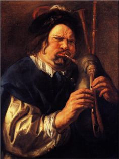 Jacob Jordaens, Self-Portrait as a Bagpipe Player, 1644