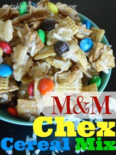 M Chex Cereal Mix from MyRecipeMagic.com #M #cereal #chex #mix