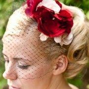 red veil idea, red passion, shops, birdcage veils, birdcages