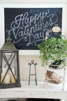Happy Valentine's Day chalkboard