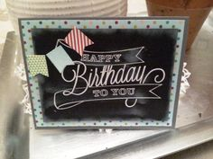 stamp sets, stampin up another great year, another great year stampin up, chalkboard techniqu, banner blast
