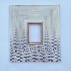 5x7 Metallic Distressed Mod Frame in Silver and Gunmetal Tribeca Pattern