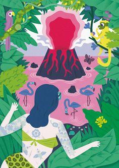 Volcano - Till Hafenbrak Illustration
