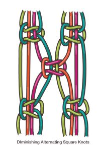 How to Macrame: Alternating Square Knots