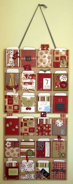 Cute advent with list of ideas for activities