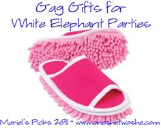 Gag Gifts for White Elephant Parties ~ Mariel's Picks 2011 'Or so she says...' Blog www.oneshetwoshe.com #gifts #christmas #gag