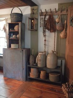 country cupboards, floors, primitive country, country decor, cabinet, primit decor, box, primitive homes