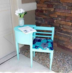 Refurbished Antique Telephone Table