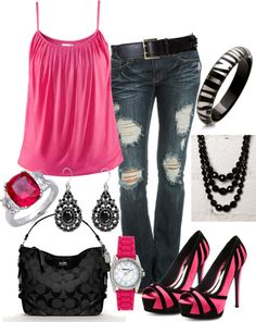 ♥ cute for a night out or clubbing if you want to be more casual, LOVE the shoes.
