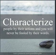 Characterize people by...